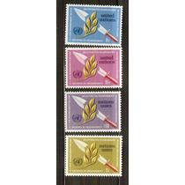 1973 Naciones Unidas Ginebra Olivo Y Espada Serie 4 Sellos