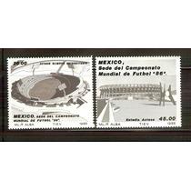 1985 Mèxico Campeonato Mundial De Futbol `86 2 Sellos Nuevos