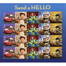 Plantilla De Estampillas De Pixar Cars, Toy Story, Wall-e