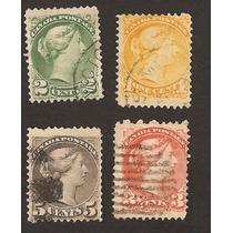 Estampillas De Canada Reina Victoria Usadas 1888 Vbf