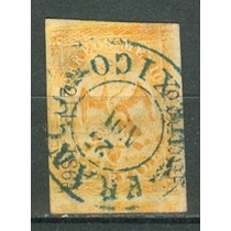 Sc 23 Año 1864 Aguila Iii Periodo 2 Reales Dist 214 Mexico
