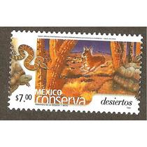 Mexico Conserva Desiertos $7.00 Tortuga Serpiente Fauna Vbf