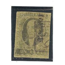 Sello Negro S/vrde Hidalgo 1861 Un Real