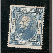 Estampillas Hidalgo, 12 Cts 1873, Distrito Durango