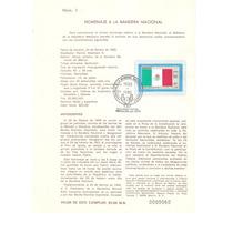 Hoja Primer Día Homenaje A La Bandera Nacional 1985