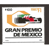 Estampilla Gran Premio F1 Autos 1987