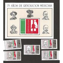 Estampillas 75 Aniversario Revolución Mexicana 1985