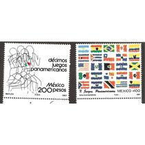 Estampillas Juegos Panamericanos Banderas 1987
