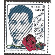 Estampilla Ramón Lopez Velarde Poeta 1988