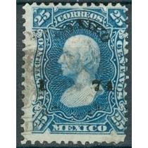 Sc 109 Año 1874 Hidalgo 25 Cent Dist 1 Mexico No. Separados