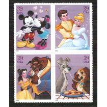 2006 El Arte De Disney Romance Block 4 Estados Unidos Mnh