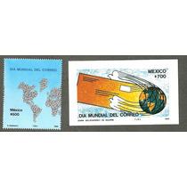 Estampillas Dia Mundial Del Correo Mapas C/hojita 1988