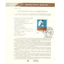 Hoja Primer Día Alimentación, Pintura Tamayo 1988 Vbf