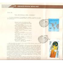 Hoja Primer Día Dia Mundial Del Correo Mapas C/hojita 1988