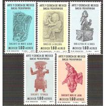 1977 México Arte Y Ciencia Danzas Prehispánicas Serie Mnh