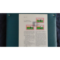 Hojilla Filatelica. Xii Campeonato Mundial De Futbol 1982