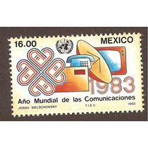 Mexico 1983 Año Mundial De Las Comunicaciones Vbf