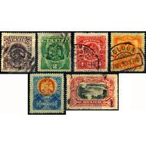 1138 México Aguilitas 1903 Serie Completa 7 Sellos Usados