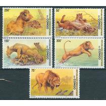 Sc () El Congo Serie Tematica Leon Felinos Gatos