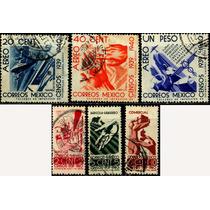 0461 México Serie Completa Censo 6 Sellos Usados 1939-40