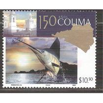 2007 Colima, 150 Años Sello Mnh Pez Vela