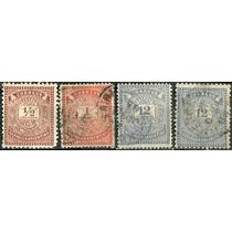 1257 Argentina Numerales 4 Sellos Usados 1882