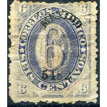 1450 Clasico Numeral Dto México #5482 Ultra 6c Usado 1882