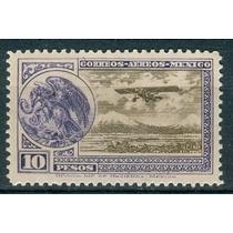Sc C19 Año 1929 Escudo Y Avion De 10 Pesos