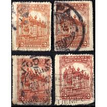 1149 México Serie Monumentos Scott #650 4 S Usados 1923-34