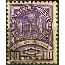 1513 México Cruz Palenque Sin Filigrana 10c Usado 1934-40