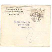 Sobre Enviado De Tampico A Mexico Df El 1 Sept 1920