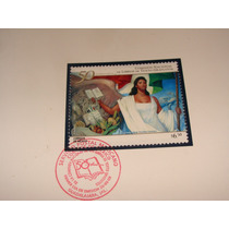 Filatelia Estampilla Postal Mexico 50 Aniversario Textos