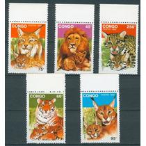 Sc () Año 1992 Congo Leon, Tigre, Felinos, Gatos.