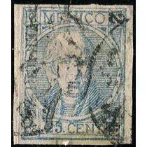 1923 Clásico Scott #61 Con Punto Veracruz #2 70 25c Usado