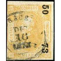1926 Clásico Scott #96 Imperforado Veracruz #50 73 50c Usado