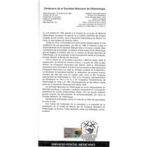 Hoja Carnet Primer Día Soc. Mexicana Oftalmología 1993 Salud