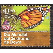 2012 Día Mundial Del Síndrome De Down Mariposa Monarca Mnh
