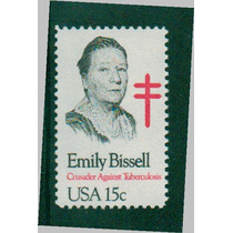 Timbre De Emily Bissell Y La Tuberculosis ( Estados Unidos)