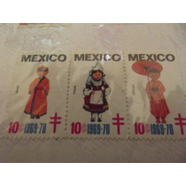 Timbres Postales Mexico - Israel - Italia - Ceylan 1969 Mn4