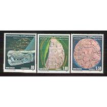 1980 Mex Monumentos Prehispanicos Serie Aerea Y Ordinario