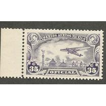 Mexico Estampilla Aerea Oficial Años 30s Mn4