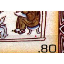 0130 México Block 4 Personajes Punto Rojo 80c Mint N H 1982