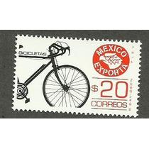 Estampilla Mexico Exporta Bicicletas 20 Pesos. 8va Nueva Vbf