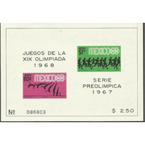 Olimpiadas Mexico 68 Hojita Aereo $2.50 1968