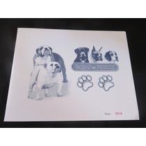 Estampilla Hojilla Razas De Perros Bulldog Beagle Boxer Rott