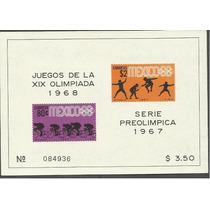 Olimpiadas Mexico 68 Hojita Ordinaria $2.50