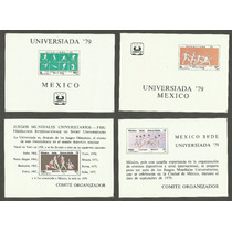 4 Hojitas Souvenir Universiada 1979 Cd De México