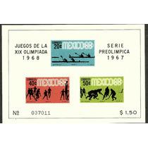 Olimpiadas Mexico 68 Hojita Ordinaria $1.50 1967