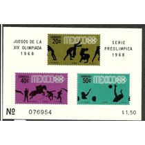 Olimpiadas Mexico 68 Hojita Ordinaria $1.50 1968