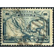 2730 Mapa Méxic Scott #512 P Delgado 40c Usado L H 1915-16